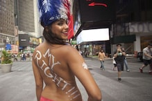 Women Bare Breasts for Gender Equality on GoTopless Day
