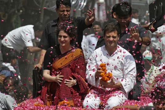 File image of Rahul Gandhi (in white), and Priyanka Gandhi Vadra (Reuters)
