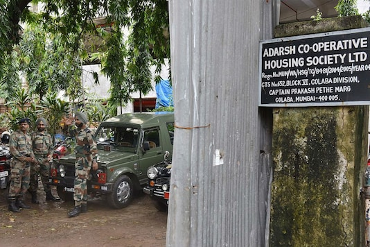 Army personnel outside the scam-tainted Adarsh Housing Society, which was built in a posh Mumbai locality for Kargil war heroes and their families. (FILE PHOTO: GETTY IMAGES)