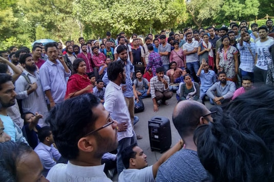 Representative image: Students at a protest in JNU