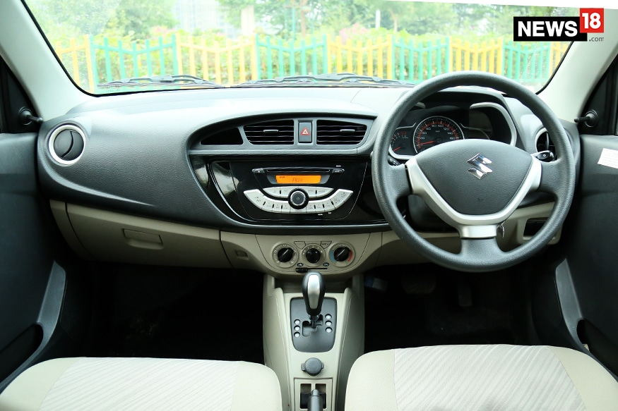 Maruti suzuki alto k10 ags review the best value for for Interior decoration of maruti 800