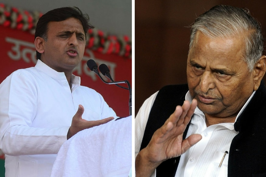 File photo of Akhilesh Yadav and Mulayam Singh Yadav.