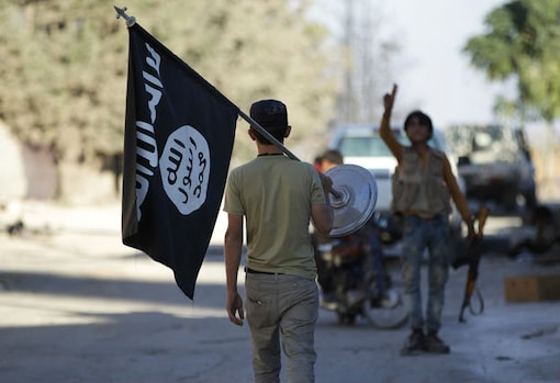 """Syrian rebels seize """"doomsday"""" village where Islamic State promised final battle MIDEAST-CRISIS-SYRIA-DABIQ A rebel fighter takes away a flag that belonged to Islamic State militants in Akhtarin village, after rebel fighters advanced in the area, in northern Aleppo Governorate 1 of 1 Items A rebel fighter takes away a flag that belonged to Islamic State militants in Akhtarin village, after rebel fighters advanced in the area, in northern Aleppo Governorate, Syria,  (Reuters)"""