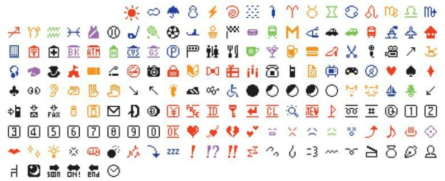 (Photo: Reuters/The set of 176 original emoji characters which have been donated to the Museum of Modern Art in New York City are seen in an undated handout image.)