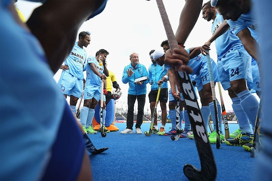 File photo of Indian hockey coach Roelant Oltmans with the team. (Getty Images)