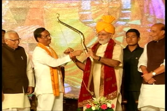File photo of Prime Minister Narendra Modi in aishbagh Lucknow, on Vijayadashmi.