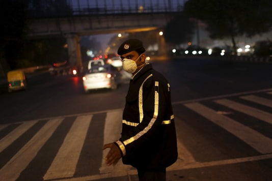 Representative picture of a traffic policeman on duty. (Reuters)