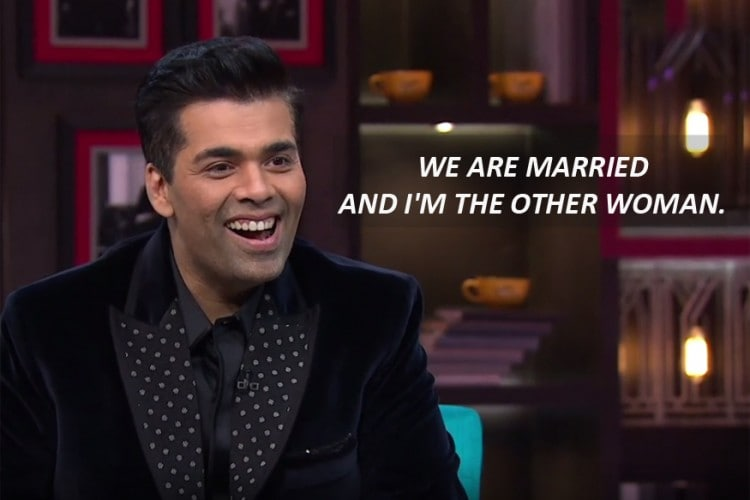 Image result for shahrukh koffee with karan quote