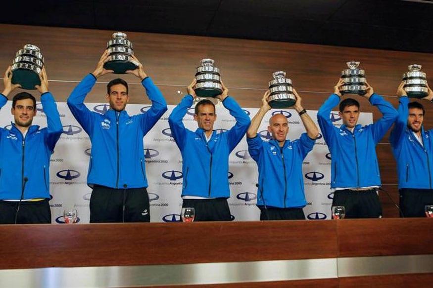 Argentina's Davis Cup winning team (Photo Courtesy: Reuters)