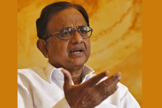 File photo of former finance minister P Chidambaram. (Image: Reuters)