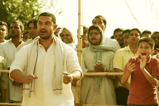 A screen grab from the song Dhaakad from Dangal. Via YouTube