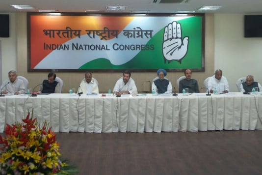 Meeting of the Congress Working Committee at AICC headquarters/Image courtesy: Congress