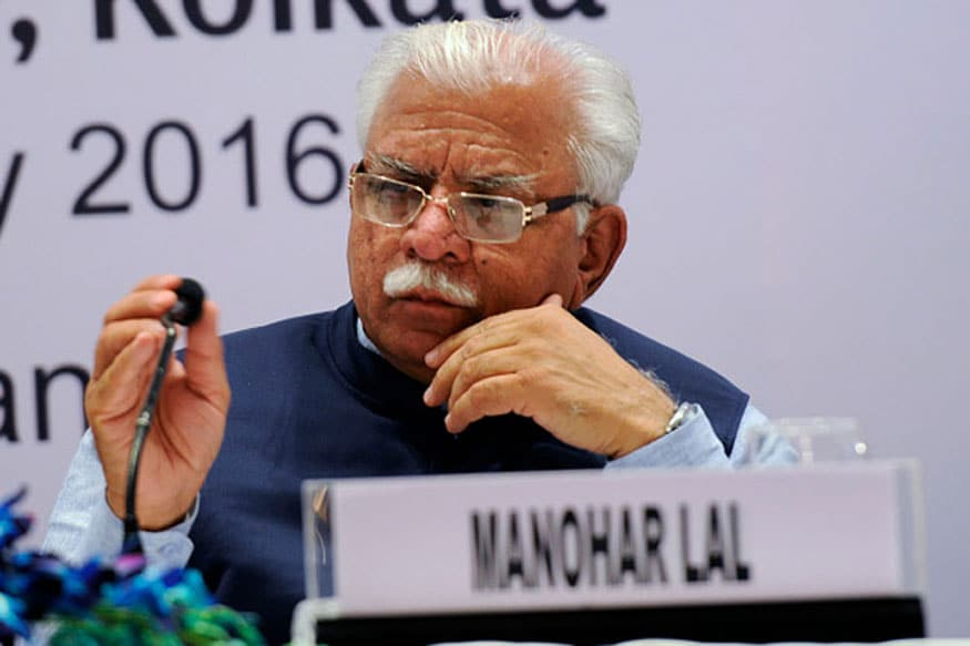 File photo of Haryana CM Manohar Lal Khattar.