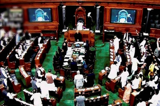File photo of proceedings in the Lok Sabha. (Image: PTI)