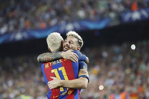 Lionel Messi and Neymar. (Getty Images)