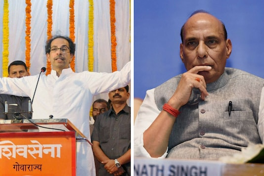 File image of Uddhav Thackeray and Home minister Rajnath Singh (PTI)