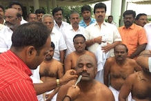 AIADMK MPs, MLAs Tonsure Head as Mark of Respect to Jayalalithaa