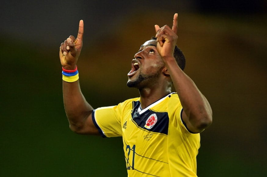 Colombia's Jackson Martinez left Atletico Madrid to play in China. (Getty Images)