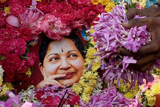Supporters in Madurai pay tribute to Jayalalithaa.  (PTI Photo)