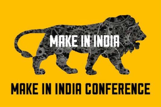 Logo of Make in India.