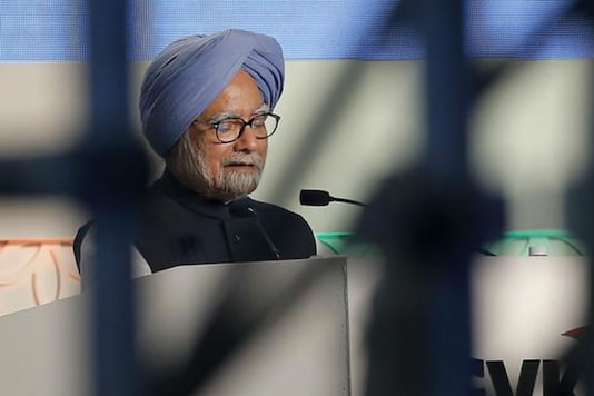 In this January 10, 2014 photo, then Prime Minister Manmohan Singh speaks during the inauguration ceremony of the newly constructed Terminal 2 at Chhatrapathi Shivaji International Airport in Mumbai. (REUTERS)
