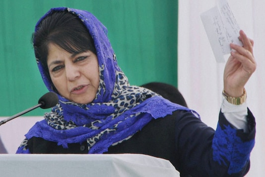 File image of former Jammu and Kashmir Chief Minister Mehbooba Mufti. (Image: PTI)