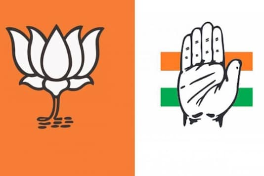 Logos of BJP and Congress party. (File Photo)