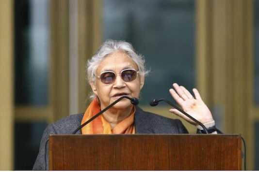 File photo of late Congress leader Sheila Dikshit.