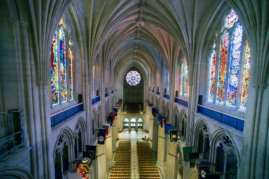 File photo shows the nave of the Washington National Cathedral in Washington (Photo: AP)