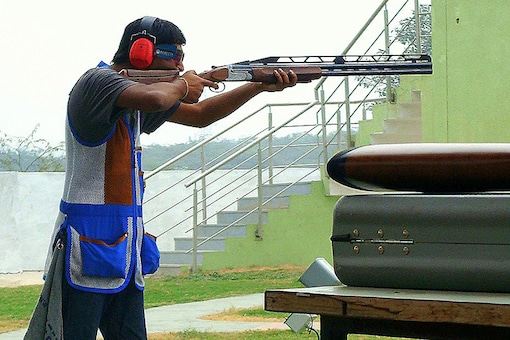 India's double trap shooter Ankur Mittal. (Image credit: Ankur Mittal)