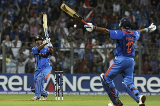 April 2011: Dhoni plays his most memorable match-winning unbeaten knock -- 91 off 79 -- balls against Sri Lanka in the World Cup final to help India lift the trophy after 28 years. He finishes the match with a huge six over long-on off Nuwan Kulasekara and wins the Man of the Match award.