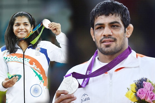 File: Sakshi Malik and Sushil Kumar. (Getty Images)