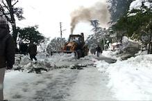 Heavy snowfall in Himachal Derails Normal Life