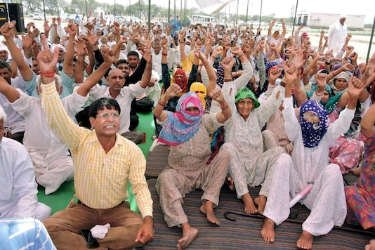 File photo of Jat community members during their agitation for reservation in Rohtak.