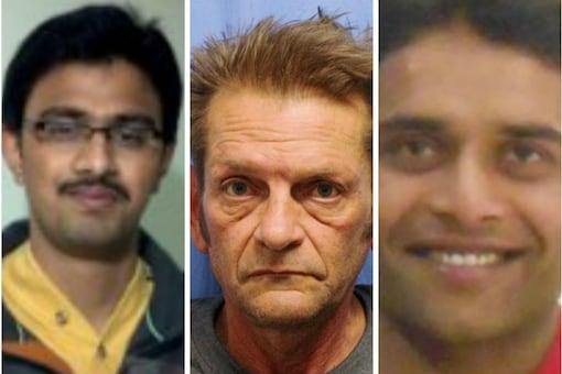 Srinivas Kuchibhotla (L) was killed and his friend Alok Madasani (extreme right) was seriously injured by a Navy veteran Adam Purinton (C) in Kansas.