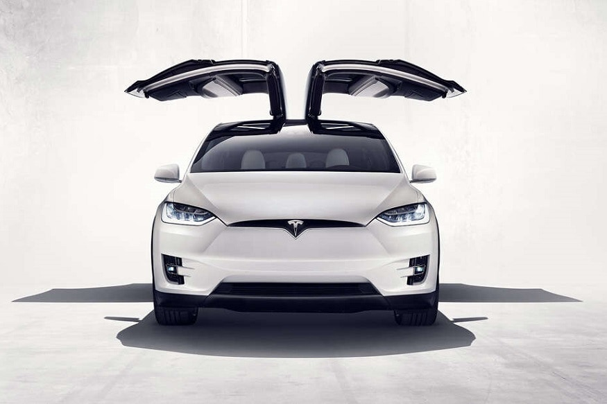 Tesla Model X - All electric SUV with Falcon Doors. (Image: Tesla)