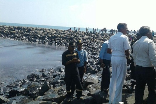 Two merchant vessels collided near the Kamarajar Port triggering an oil spill which polluted around 35 km of Chennai coastline. (File photo)