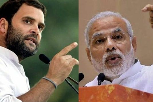 File image of Congress Vice President Rahul Gandhi and Prime Minister Narendra Modi.