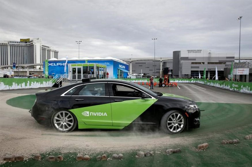 An autonomous-driving Lincoln MKZ equipped with Nvidia technology gives demonstration rides during the 2017 CES in Las Vegas, Nevada, U.S., January 5, 2017. (Photo: Reuters)