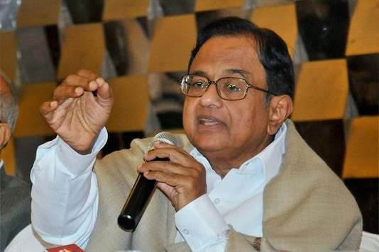File photo of Congress leader and former union minister P Chidambaram. (Image: PTI)