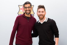 Google CEO Sundar Pichai Meets Lionel Messi, Luis Suarez And Others on His Visit to FC Barcelona