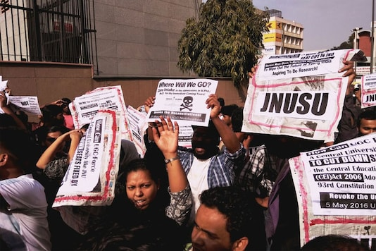 File photo of a protest at JNU.