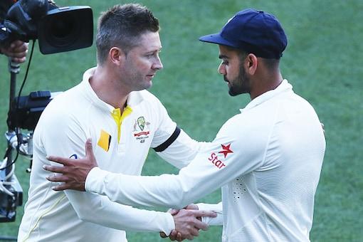 File image of Former Australia captain Michael Clarke with Virat Kohli. (Photo Credit: Getty Images)
