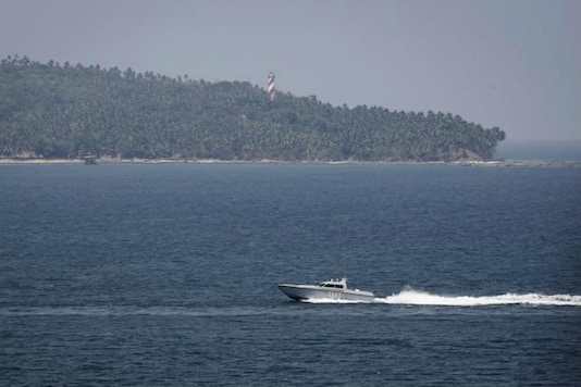 For representation: An Indian Navy boat patrols in the waters of the Andaman Sea near Port Blair. (Image for representation)