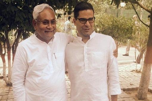 File photo of Bihar CM Nitish Kumar with JD(U) leader Prashant Kishor.