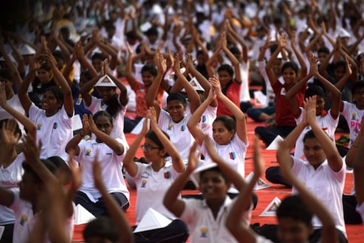 File photo of students participating in a yoga session. (Photo: Getty Images)