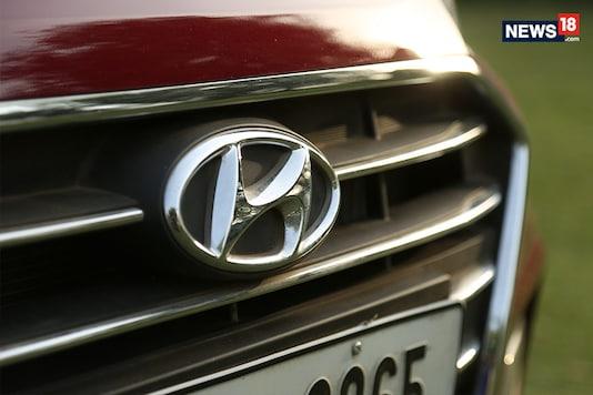 Hyundai logo. (Photo: Siddharth Safaya/News18.com)