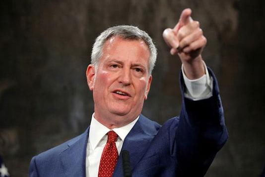 File photo of New York Mayor Bill de Blasio  (REUTERS)