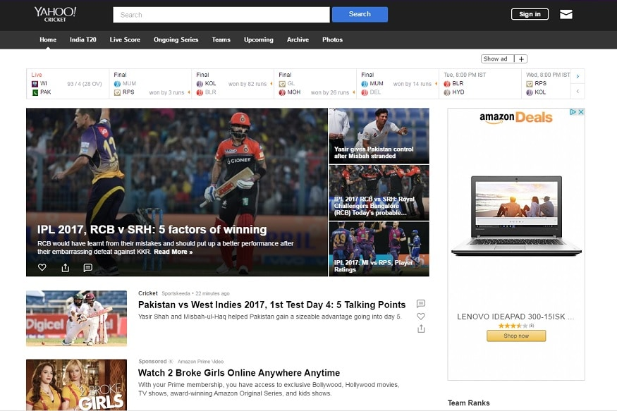 Yahoo India Homepage Gets Revamped With New Features - News18