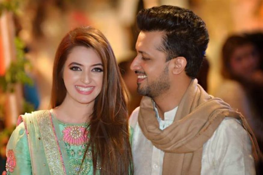 Image result for atif aslam wife pic
